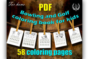 Bowling and Golf Coloring Graphic Coloring Pages & Books Kids By Ess-Kam