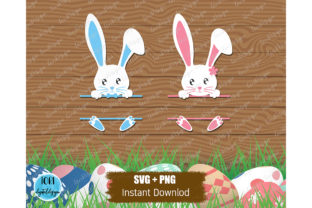 Bunny Monogram Svg   Easter Svg Graphic Print Templates By Tori Designs