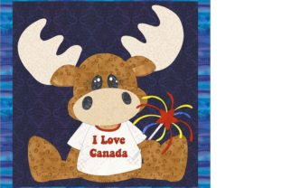 Canadian Moose with Fireworks Gráfico Quilt Patterns Por seamstobesew