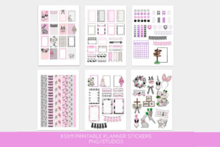 Print on Demand: Easter Printable Planner Stickers Graphic Print Templates By TheGGShop