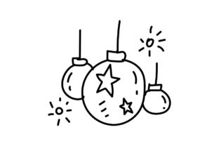 Print on Demand: Happy New Year and Merry Christmas Graphic Icons By Thingraphic