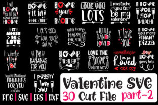 Print on Demand: Loving Valentine SVG Bundle 30 Designs Graphic Crafts By svg.in.design