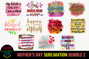 Mother's Day Sublimation Bundle 2 Graphic Crafts By Happy Printables Club