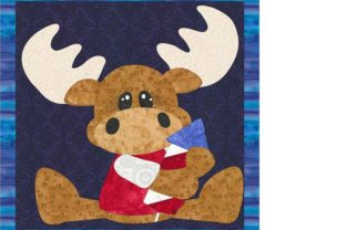 Patriotic Moose Gráfico Quilt Patterns Por seamstobesew