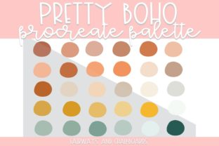 Print on Demand: Pretty Boho Procreate Color Palette Graphic Actions & Presets By Fairways and Chalkboards