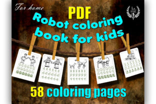 Robot Coloring Book for Kids Graphic Coloring Pages & Books Kids By Ess-Kam