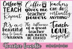 Print on Demand: Teacher Quotes Bundle Graphic Crafts By inlovewithkats
