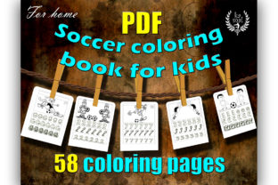 Soccer Coloring Book for Kids Graphic Coloring Pages & Books Kids By Ess-Kam