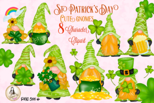 Print on Demand: St Patrick's Day Gnomes Character Graphic Illustrations By Suda Digital Art