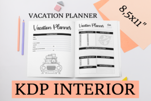 Print on Demand: Vacation Planner | KDP Interior Graphic KDP Interiors By KDP Mastermind