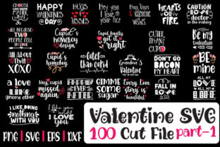 Print on Demand: Valentine Day Bundle 100 Designs Graphic Crafts By svg.in.design
