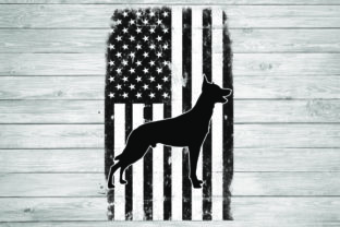 Print on Demand: Belgian Malinois American Flag Graphic Illustrations By rayan