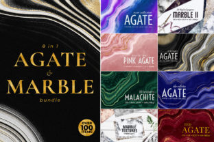 Agate, Marble and Gold Textures Bundle Graphic Textures By CatJello Graphics