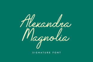 Print on Demand: Alexandra Magnolia Script & Handwritten Font By uicreativenet