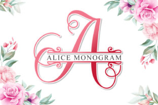 Print on Demand: Alice Monogram Decorative Font By niyos.studio