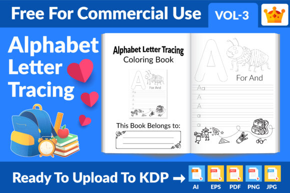 Alphabet Letter Tracing Coloring Book Graphic KDP Interiors By Md Abu Saeid
