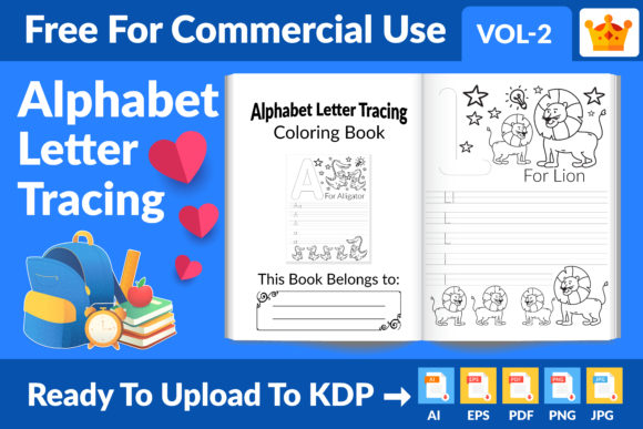 Alphabet Letter Tracing Coloring Page Graphic KDP Interiors By Md Abu Saeid