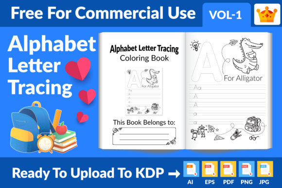 Alphabet Letter Tracing New KDP Interior Graphic