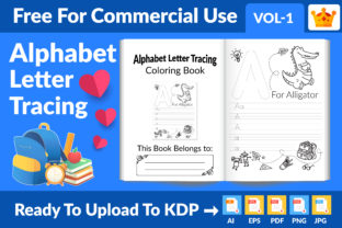 Alphabet Letter Tracing New KDP Interior Graphic KDP Interiors By Md Abu Saeid