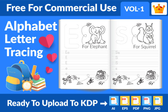 Alphabet Letter Tracing New KDP Interior Graphic Item