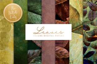 Print on Demand: Autumn Leaves Backgrounds Graphic Backgrounds By daphnepopuliers