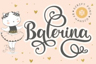 Print on Demand: Balerina Script & Handwritten Font By HansCo