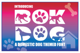 Print on Demand: Bok Dog Decorative Font By KtwoP