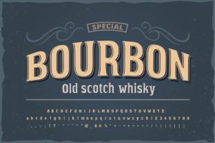 Print on Demand: Bourbon Display Font By Fractal font factory