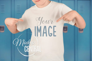 Boy Student School T-Shirt Mockup Graphic Product Mockups By Mockup Central