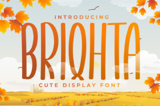 Print on Demand: Briqhta Display Font By OKEVECTOR