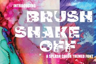Print on Demand: Brush Shake off Decorative Font By KtwoP