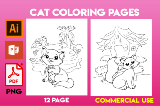 Print on Demand: Cat Coloring Pages for KIds Graphic Coloring Pages & Books Kids By Cute Coloring