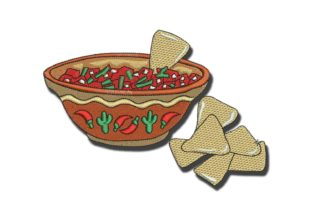 Chips and Salsa Food & Dining Embroidery Design By BabyNucci Embroidery Designs