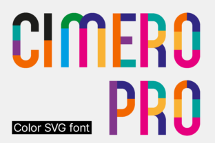 Print on Demand: Cimero Pro Color Fonts Font By neogrey