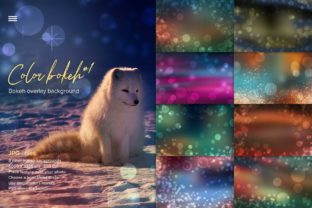 Print on Demand: Color Bokeh Overlay Backgrounds #1 Graphic Textures By z.zajka