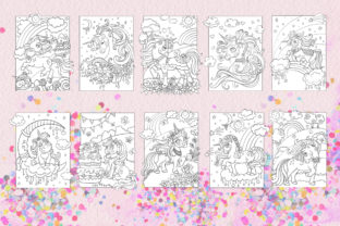 Coloring Book for Children Cute Unicorns Graphic Coloring Pages & Books Kids By Alinart 2