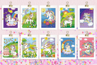 Coloring Book for Children Cute Unicorns Graphic Coloring Pages & Books Kids By Alinart 3