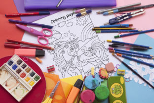 Coloring Book for Children Cute Unicorns Graphic Coloring Pages & Books Kids By Alinart 4