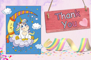 Coloring Book for Children Cute Unicorns Graphic Coloring Pages & Books Kids By Alinart 7