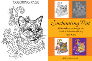 Coloring Page for Adult Enchanting Cat Graphic Coloring Pages & Books Adults By Alinart