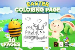 Print on Demand: Cute Easter Bunny Coloring Book for Kids Graphic Coloring Pages & Books Kids By Cute Coloring