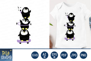 Cute Penguin Svg File Graphic Illustrations By Pila Studio