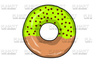 Yellow and Brown Donut Candy Graphic Illustrations By Fundesings