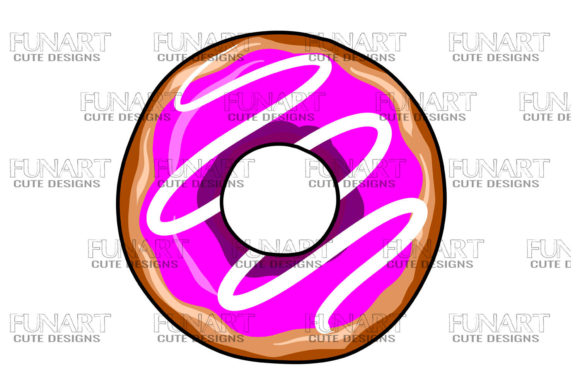 Donut Design, Doughnuts, Png Sublimation Graphic Illustrations By Fundesings