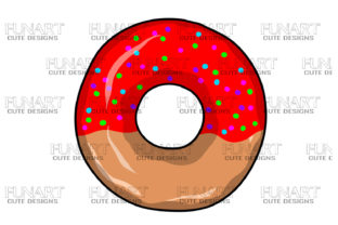 Red Donut Graphic Illustrations By Fundesings