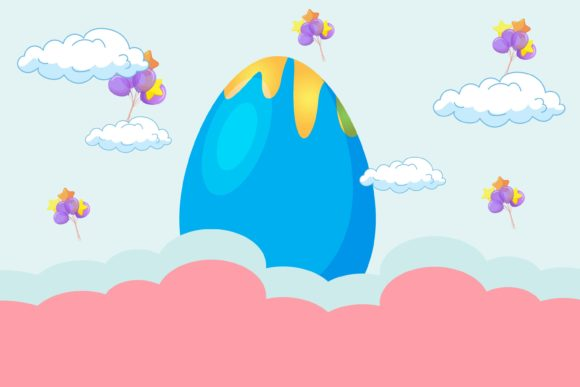 Easter Eggs Background Beautiful Graphic Illustrations By kidscorner