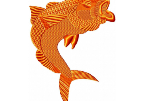 Gold Fish Fish & Shells Embroidery Design By EmbDesigns