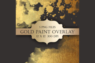 Gold Watercolor Paint Overlays Graphic Objects By ItGirlDigital