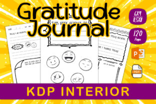 Print on Demand: Gratitude Journal for Printable and KDP Graphic KDP Interiors By IsaraDesign