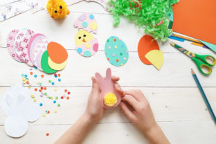 Handmade Colored Easter DIY Paper Craft Graphic Photos By Diana Kovach